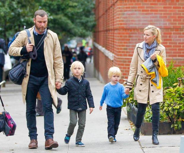 Naomi Watts and Liev Schreiber Bond With Their Sons