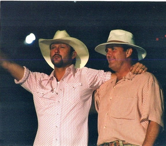 Tim McGraw with Father Tug McGraw