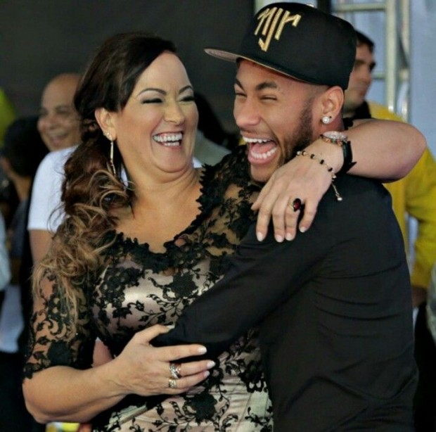 Neymar and His Mother Nadine Santos