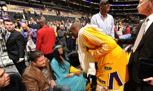 Kobe Talking to His Mother Pamela