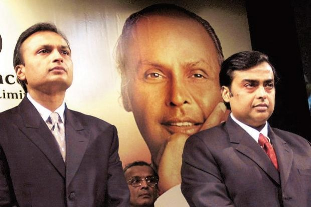 Mukesh Ambani with His Brother Anil Ambani