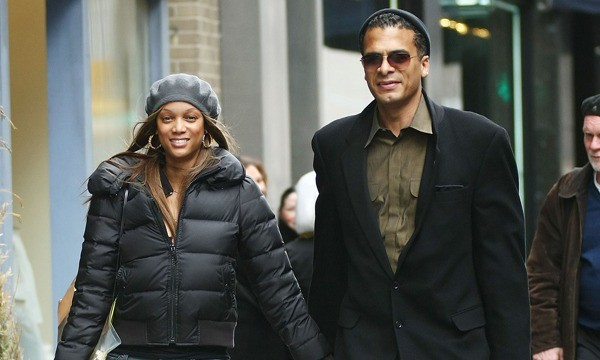 Tyra Banks Walking With Her Husband