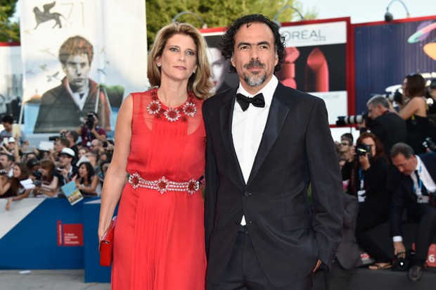 Alejandro González Iñárritu With His Wife