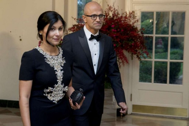 Satya Nadella and His Wife Anupama Nadella