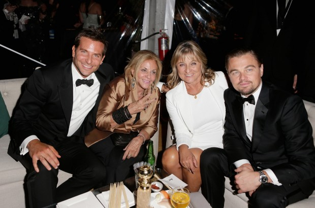 Bradley Cooper and His Mother with Leonardo Dicaprio and DiCaprio's Mother