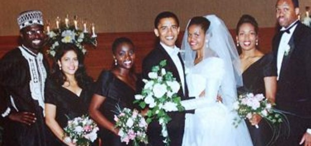 Michelle Obama Marriage Photos