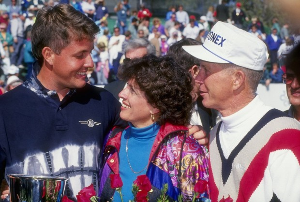 Phil Mickelson With His Parents