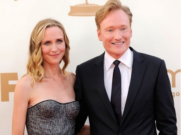 Conan O Brien With His Wife