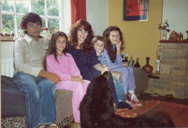 Christian Bale with His Family in His Childhood