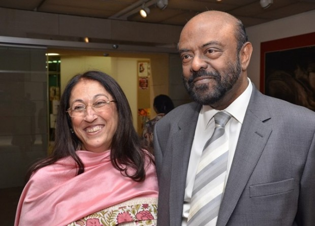 Shiv Nadar and His Wife Kiran