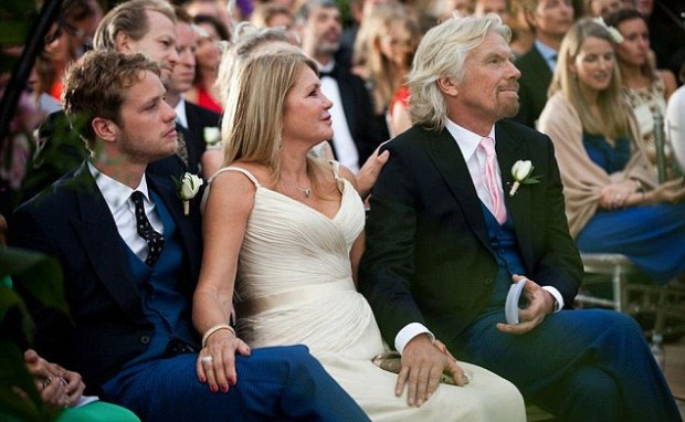 Richard Branson with daughter Holly Branson