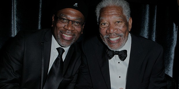 Morgan Freeman and his son Alfonso Freeman
