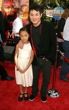 Jet Li and His Daughter Jane