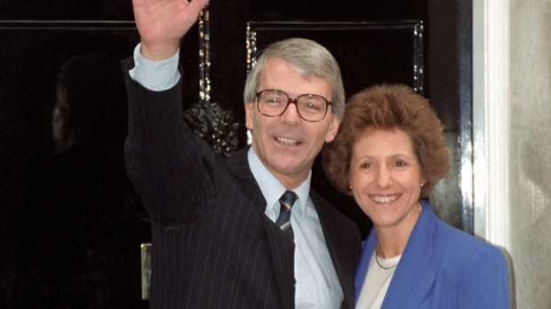 John Major and His Wife Norma after John Became Prime Minister in 1990