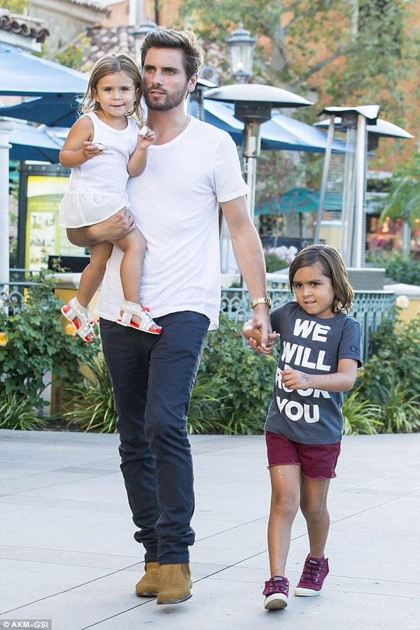 Scott Disick Takes His Adorable Kids Out