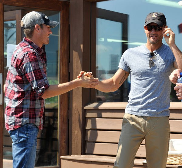 Tim McGraw with Mark McGraw