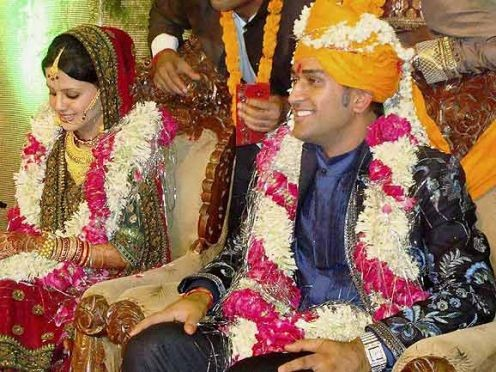 MS.Dhoni on his Wedding Day