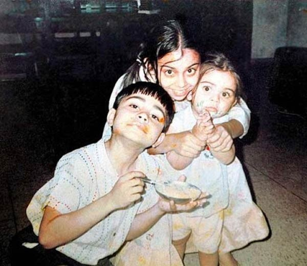Little Virat with His Sister Bhava and Brother Vikash