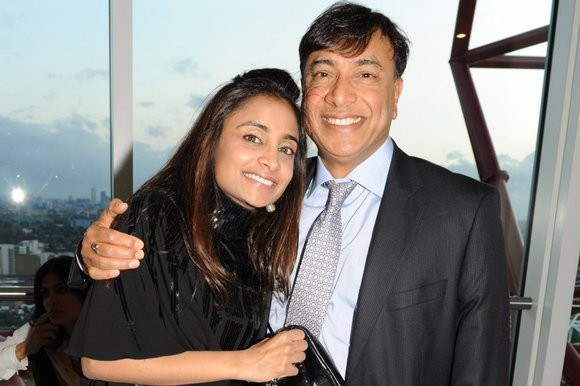 Mittal With His Daughter Vanisha Mittal