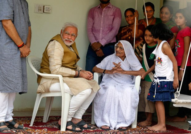 Modi with His Family