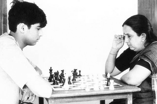 Vishy Anand Playing Chess With his Mother Susheela