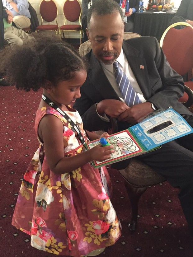Dr. Ben Carson with His Grand Daughter
