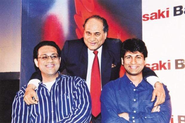 Rahul Bajaj With His Sons