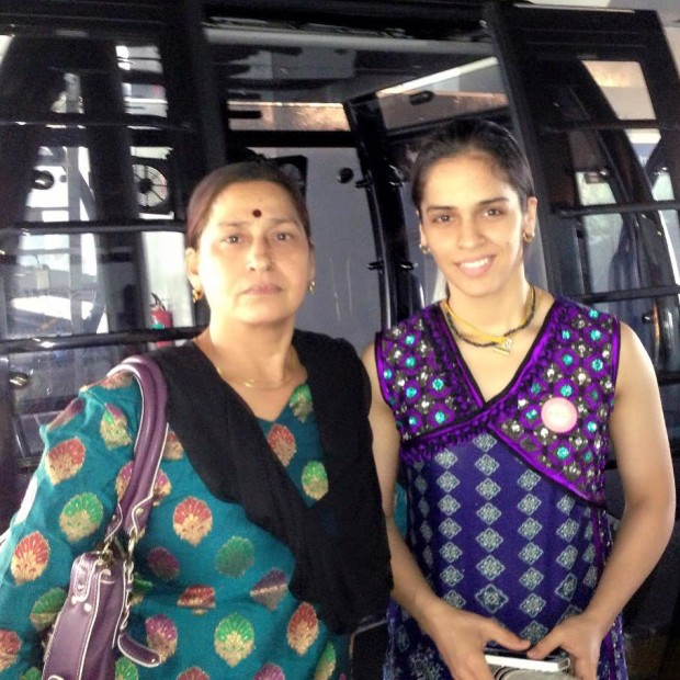 Saina Nehwal with Her Mother Usha Nehwal