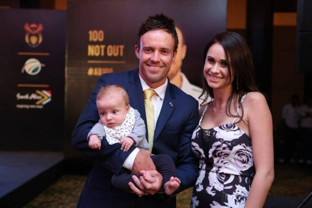 ABD Couple with Their Son Abraham Devilliers