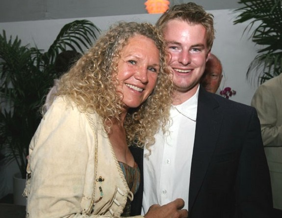 Christy Ruth Walton With Her Son Lukas Walton