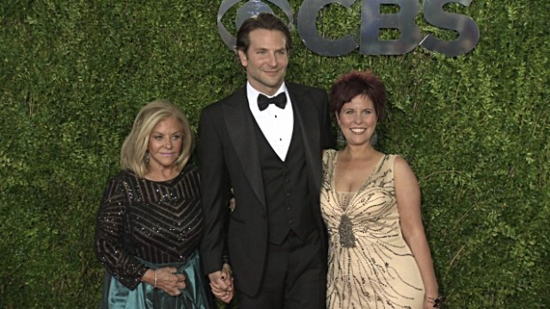 Bradley Cooper with His Mother and Sister
