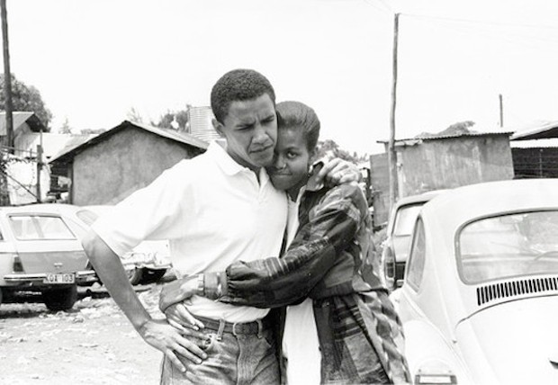 Michelle With Barack Obama