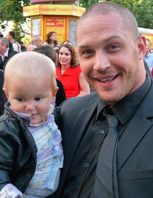 Tom Hardy with His Son louis thomas hardy