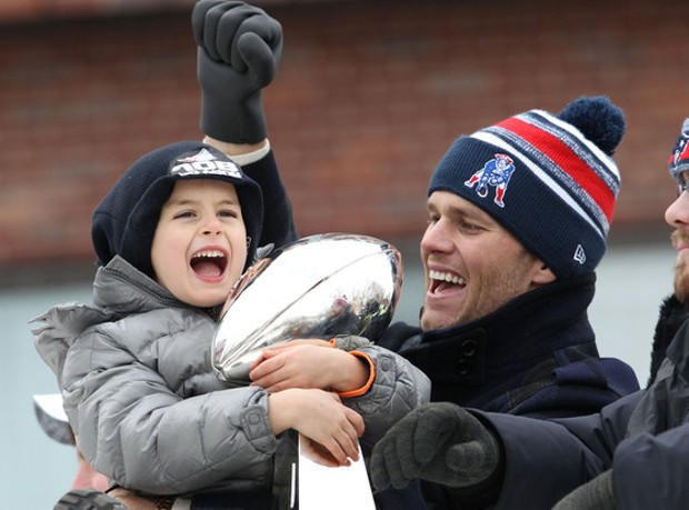 Tom Brady with His Son Benjamin Brady
