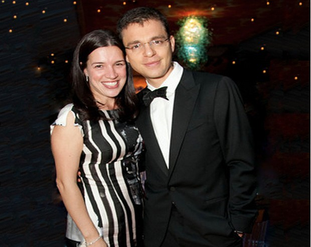 Max Levchin With His Wife Nellie Minkova