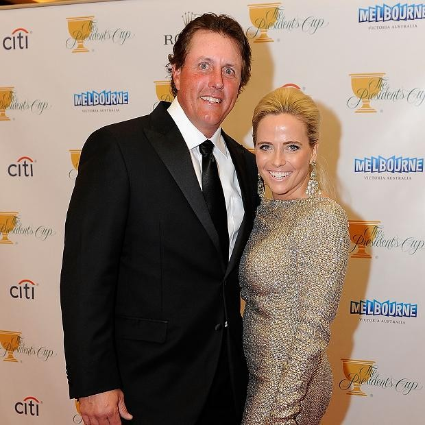 Phil Mickelson With His Wife Amy Mickelson