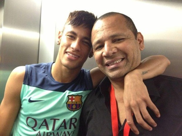 Neymar With His Father Neymar Santos Sr