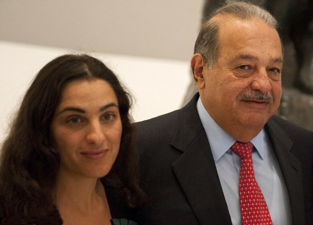 Carlos Slim with his Daughter Soumaya Slim Domit