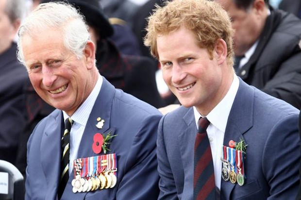 Prince Harry With His Father