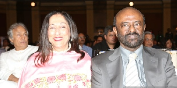 Shiv Nadar with His Wife at Managing India Awards