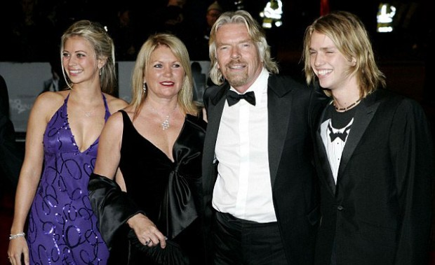 Richard Branson and family