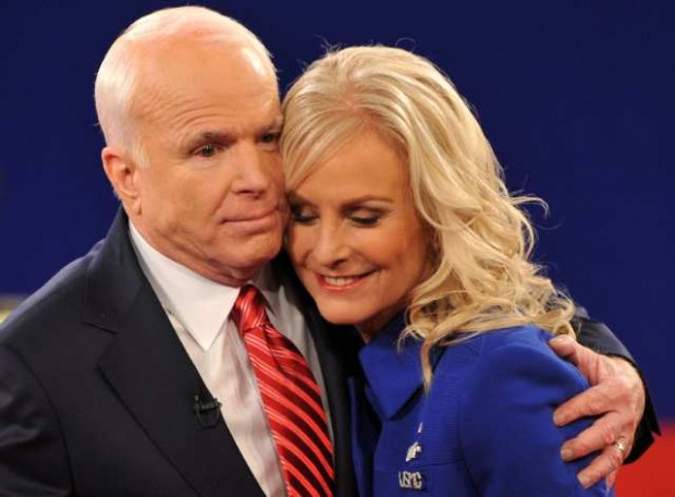 John McCain with his Wife Cindy McCain