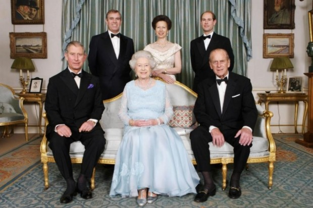 Queen Elizabeth II with her Family