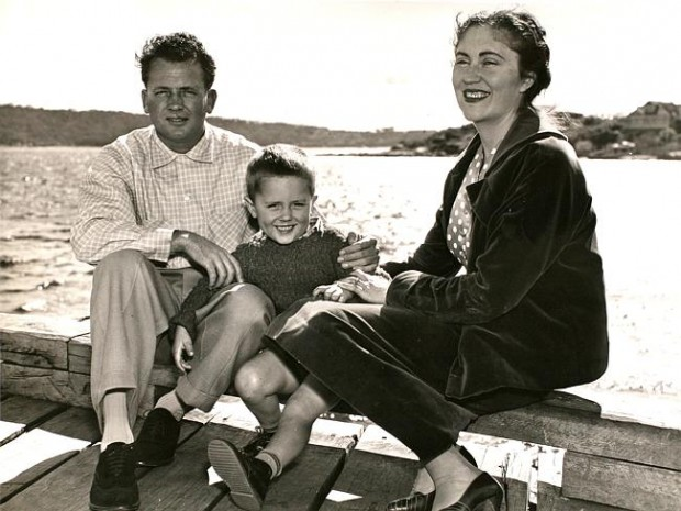 Malcolm Turnbull with his father Bruce and his mother Coral Lansbury