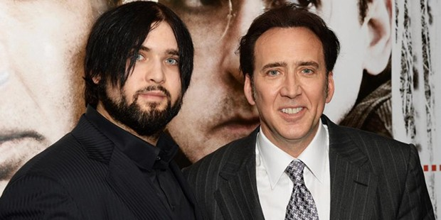 Nicolas Cage with his son Weston Cage at the London premiere of The Frozen Ground in 2013
