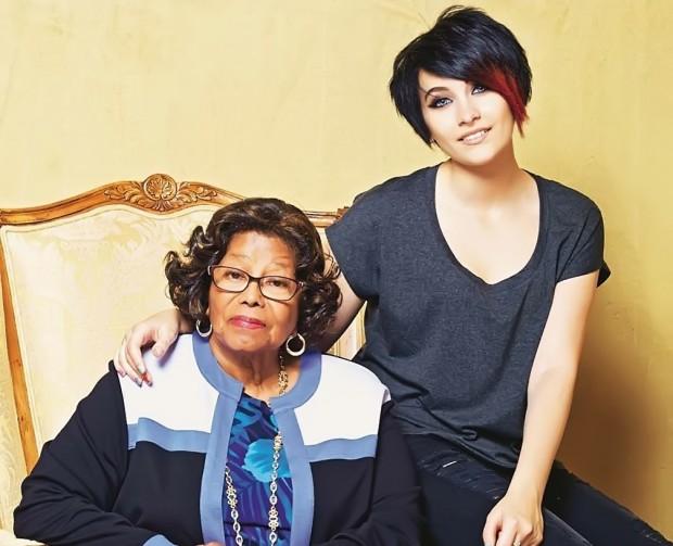 Paris Jackson with her Grandmother