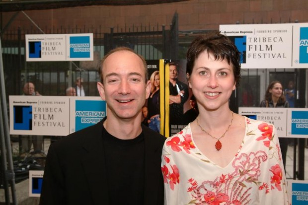 Jeff Bezos With His wife MacKenzie Bezos