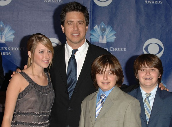 Ray Romano with His Twin Sons Matthew and Gregory and Daughter Alexandra