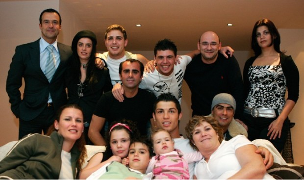 Ronaldo with His Family
