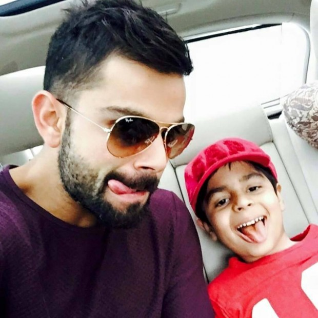 Kohli with His Nephew